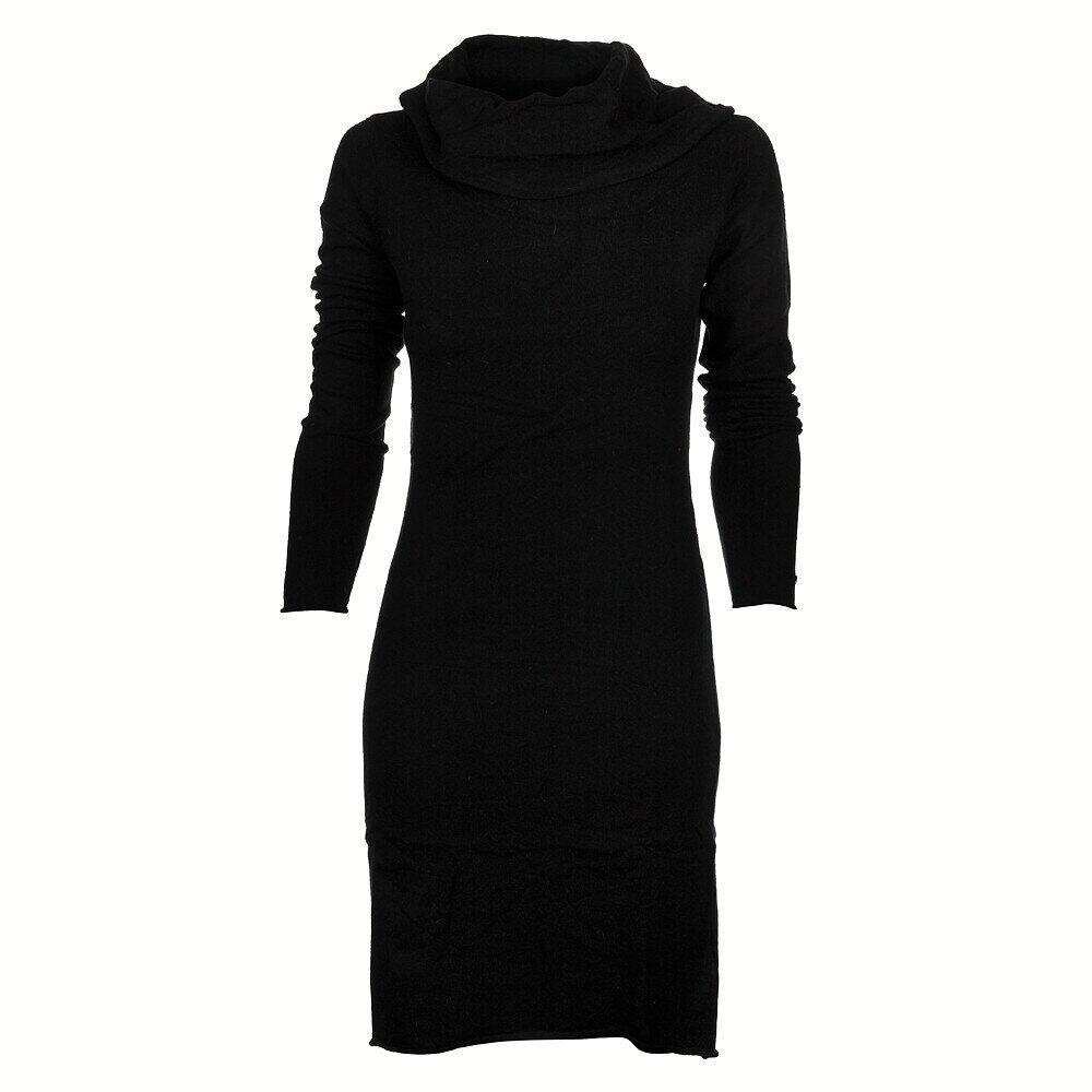 Dámské černé pletené šaty Timeout s velkým límcem  1d7f20d6847