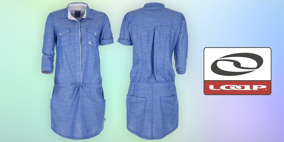 Dámské šaty Loap s límečkem a kapsami  91965c46e6