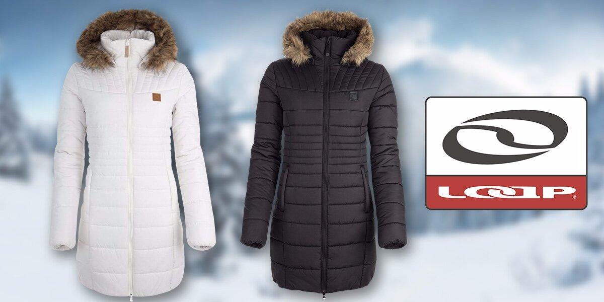 Dámský zimní kabát Loap s kapucí  2de01f8e24