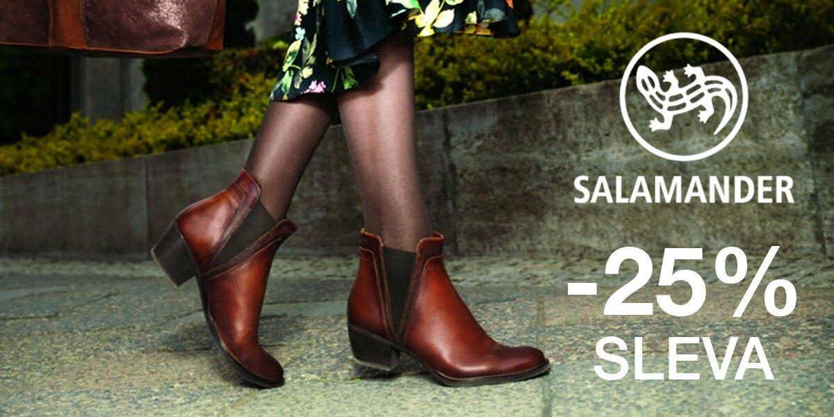bf21826f4d Sleva 25 % na dámskou i pánskou obuv Salamander
