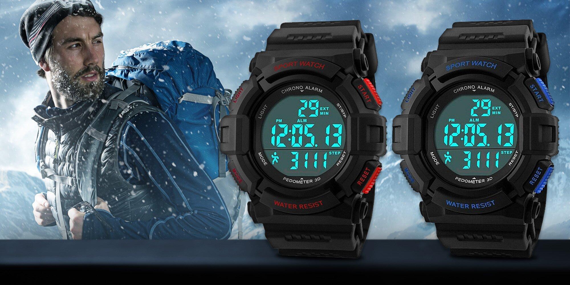 a23c69f61e6 Pánské sportovní hodinky Gtup s krokoměrem
