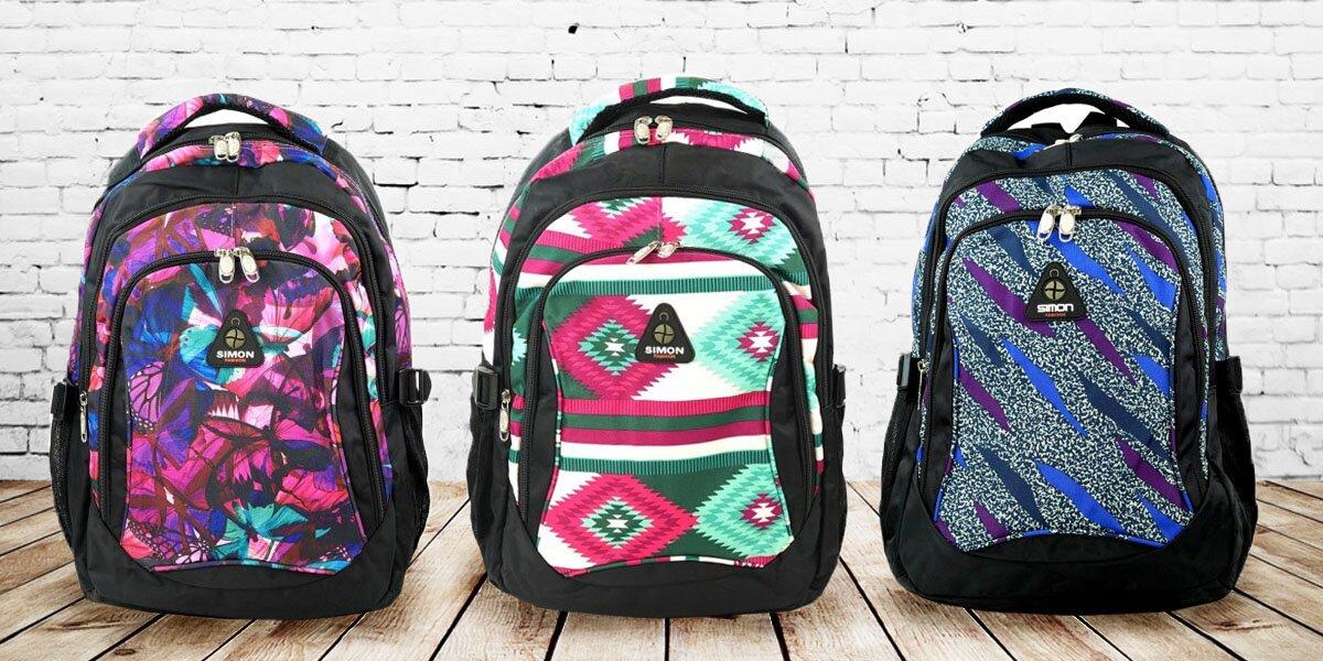 Barevné školní batohy Simon  ced2d7d5b3