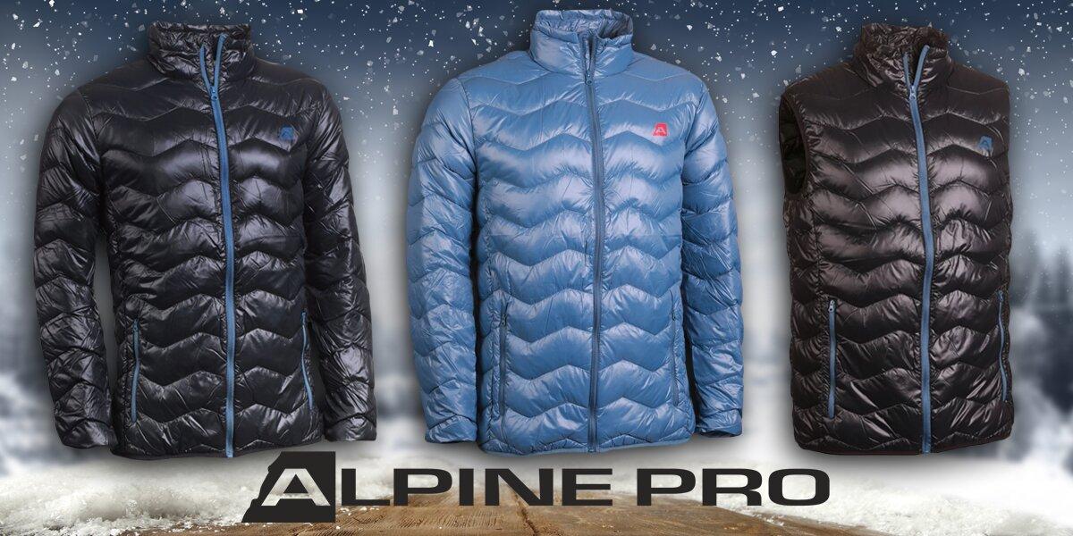 e5d03857528e Pánské zimní péřové bundy a vesta Alpine Pro
