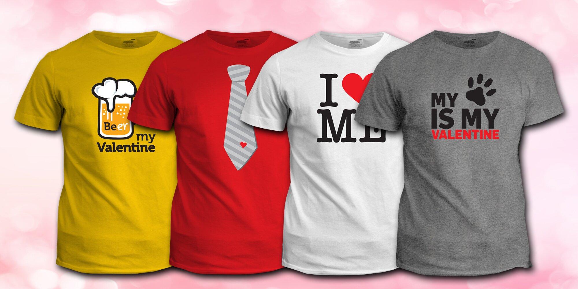 35db5c15a975 Hravá trička s povedeným valentýnským potiskem