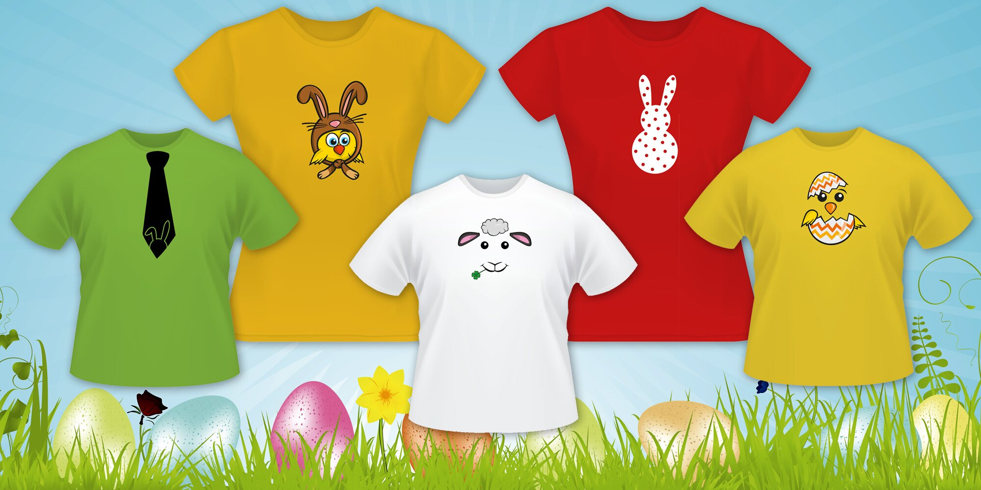 Dámská či dětská designová velikonoční trička  62885a440e