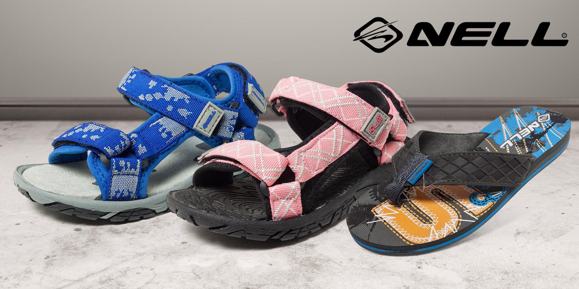Dětská obuv do města i na pláž - žabky a sandály značky Nell ... eb5a104343
