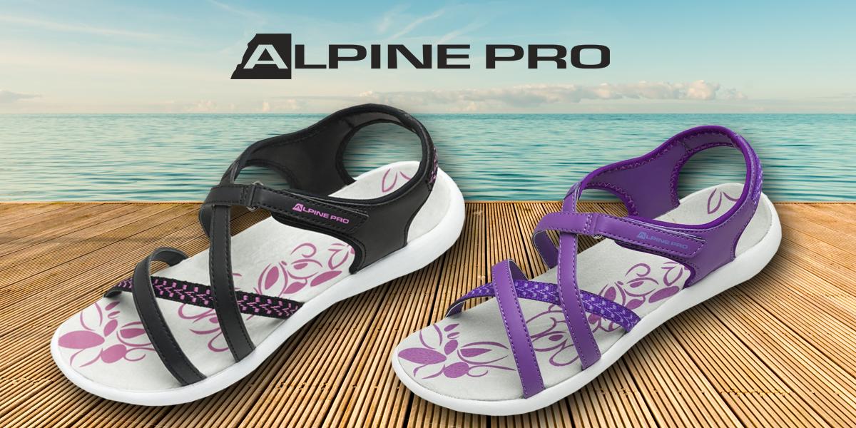 6192d06321eb Dámské sandály Alpine Pro se zapínáním na suchý zip