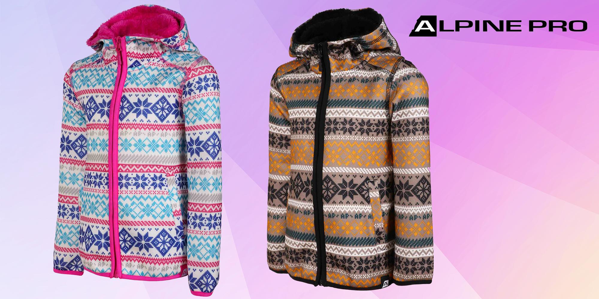 1a1a401f5105 Teplý dětský svetr Alpine Pro s kapucí