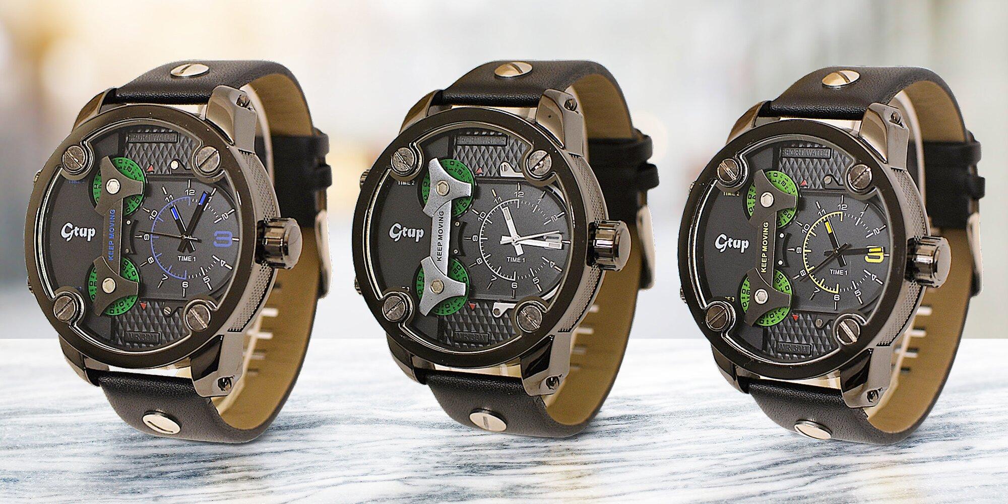 Luxusní pánské hodinky Gtup s velkým ciferníkem  64cb796029