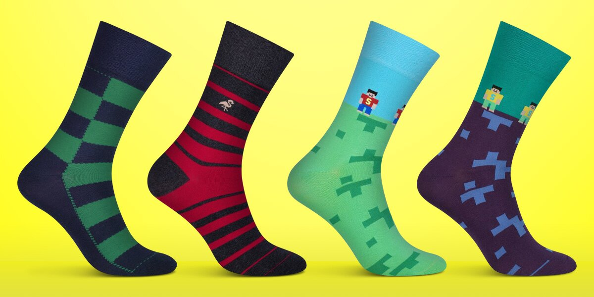 Barevné designové ponožky ZUUXO  419174d64d