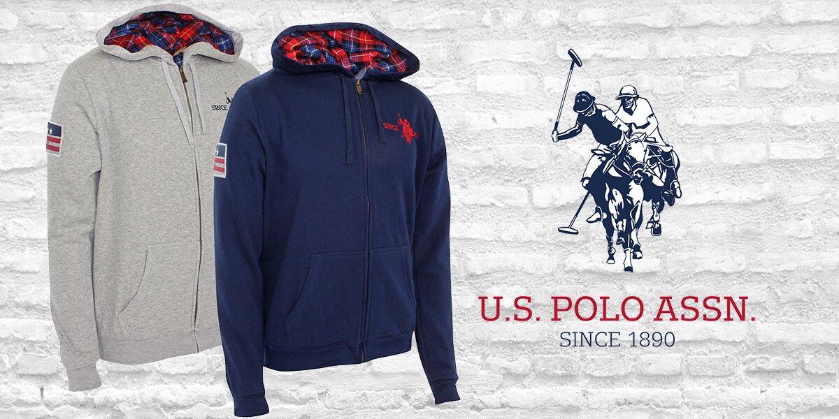 Pánská stylová mikina s kapucí U.S. Polo Assn  5166a7411d