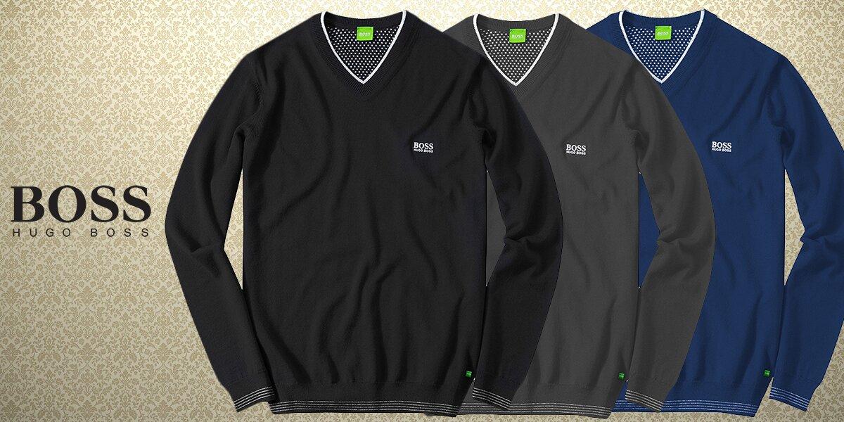 38e985404b8 Pánský luxusní svetr Hugo Boss