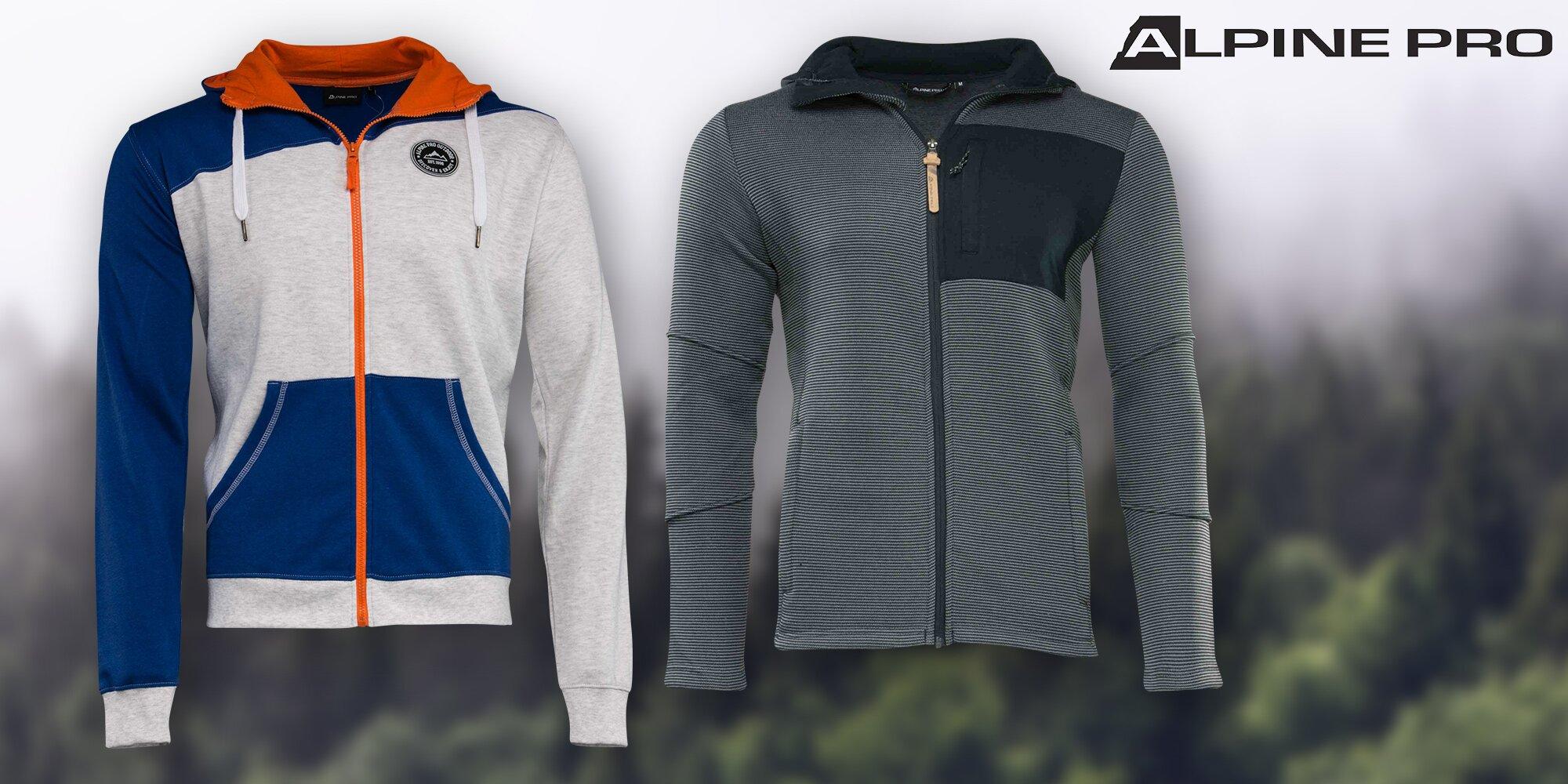 4140e840c54 Pánský svetr nebo mikina Alpine Pro s kapucí