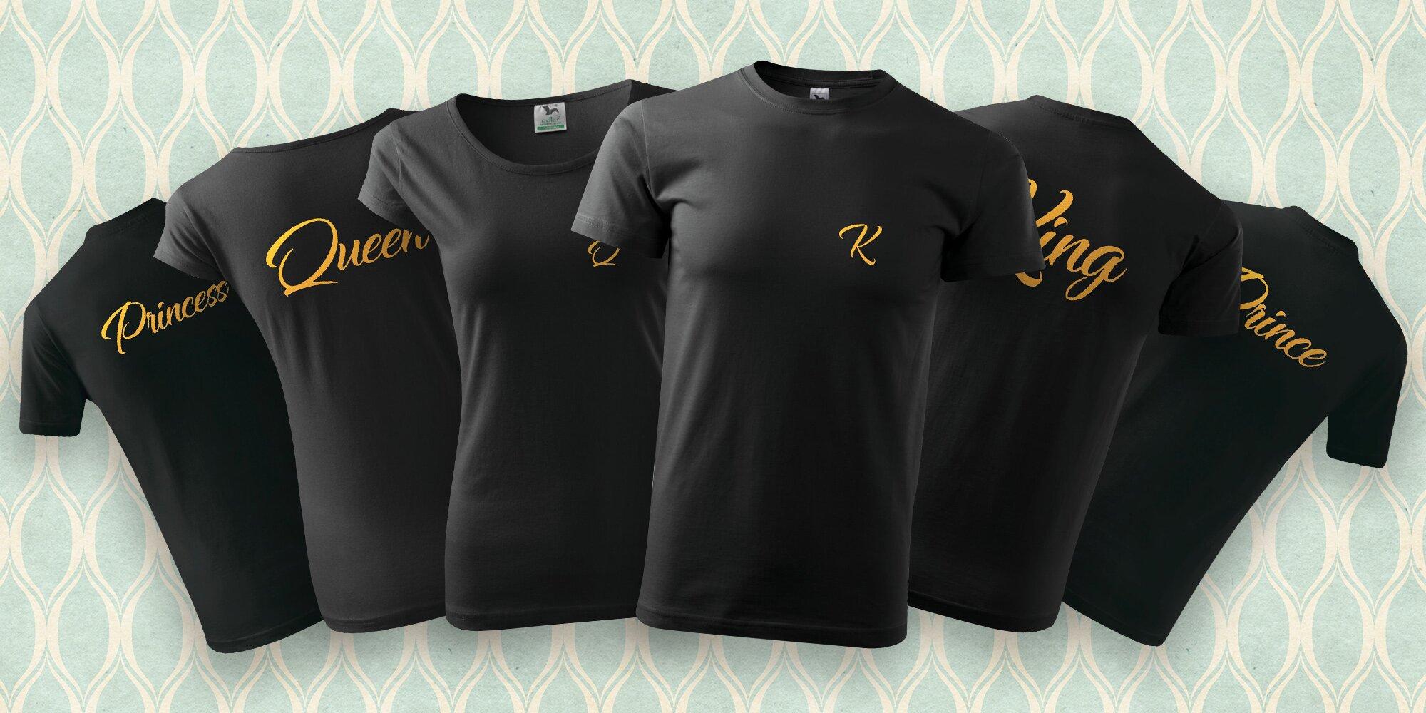 1091e3f2d12 Královská trička s potiskem pro celou rodinu