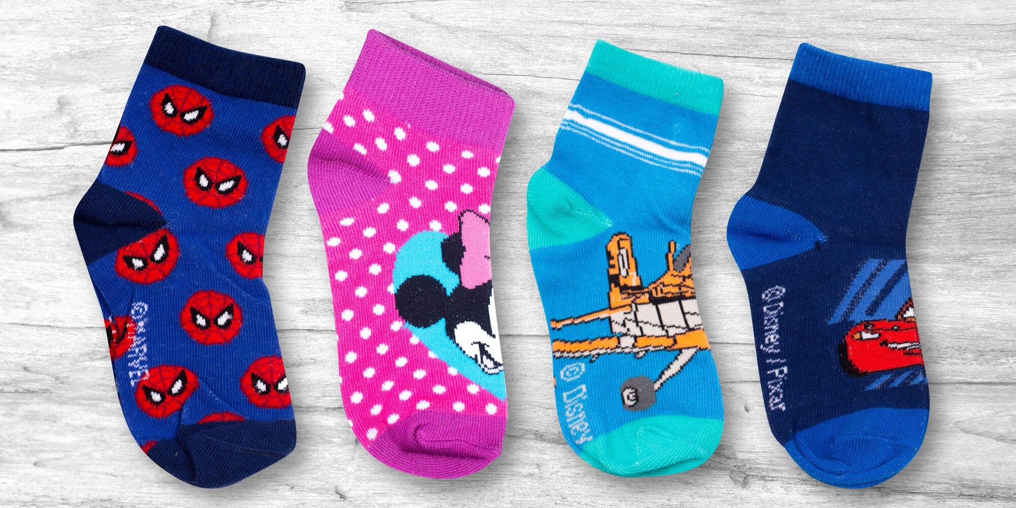 Dvoje dětské nízké ponožky s pohádkovými motivy  769832d295