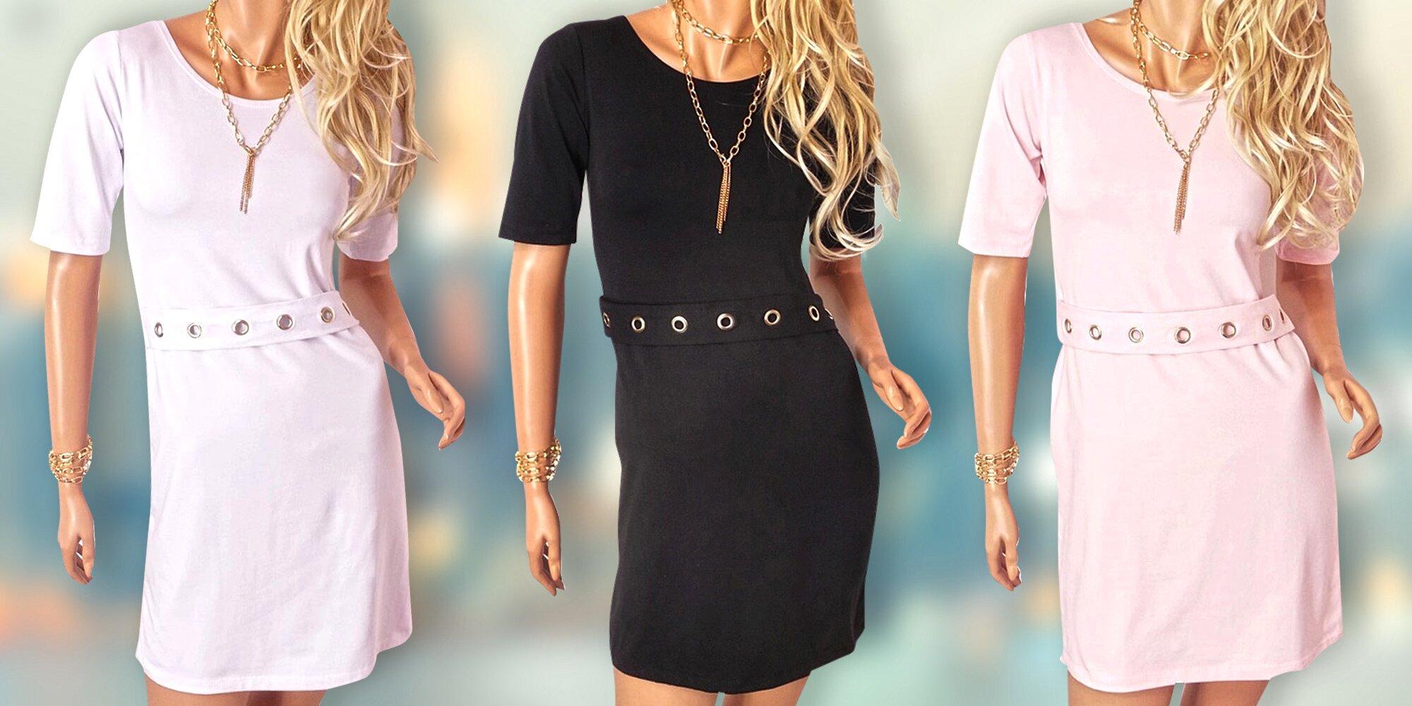 c15b865ab38 Elegantní dámské šaty s páskem