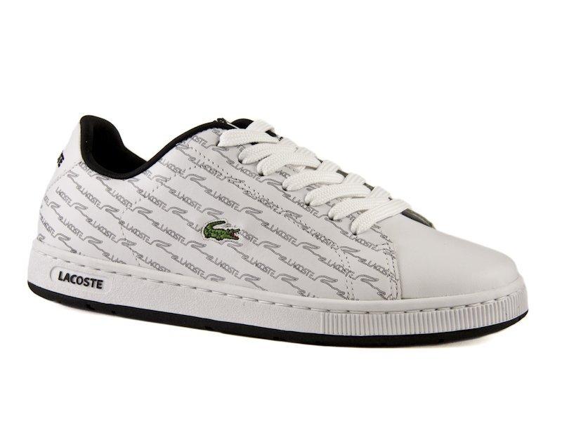42d014c400f Dámské bílé kožené boty Lacoste s šedým potiskem