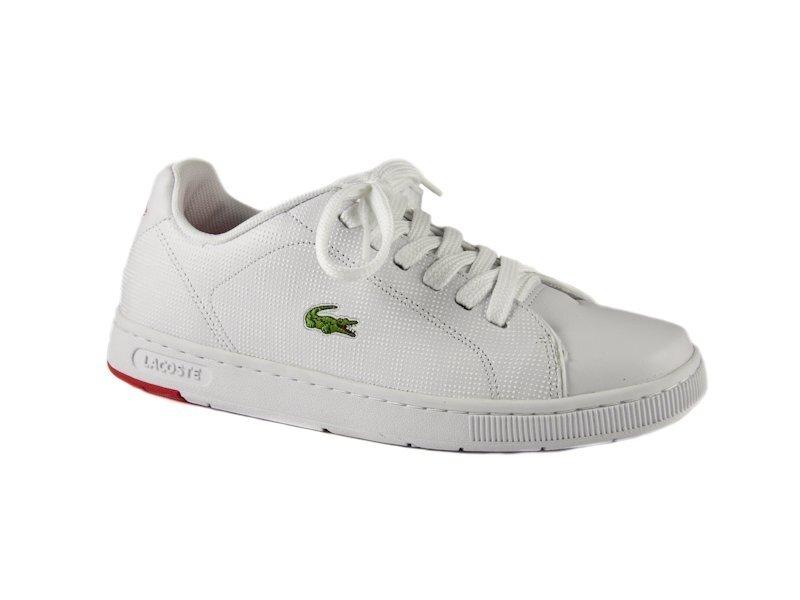 4486320a67c Bílo-červené tenisky Lacoste Carnaby