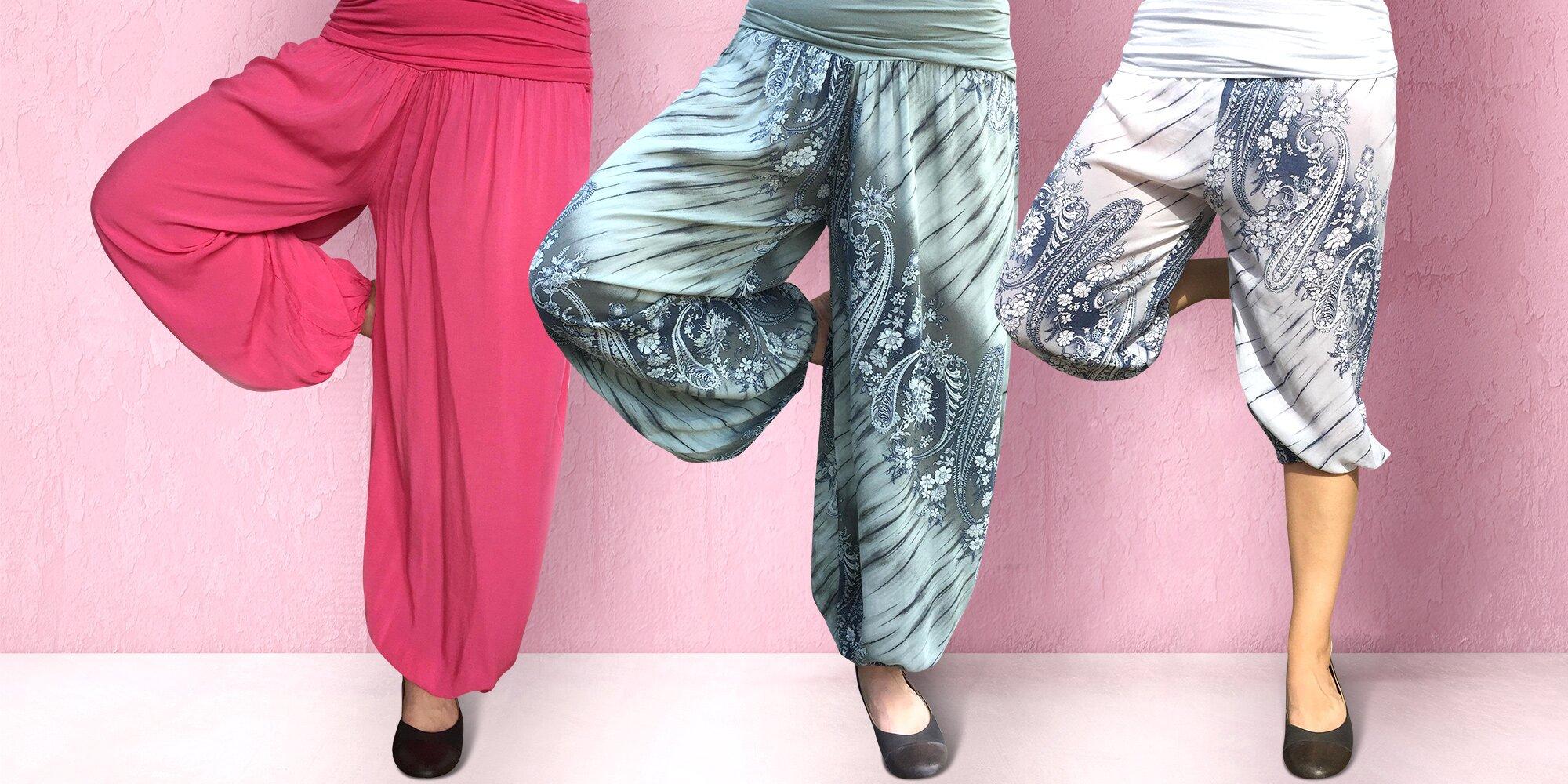 ba48850d5ab Dámské bavlněné harémové kalhoty