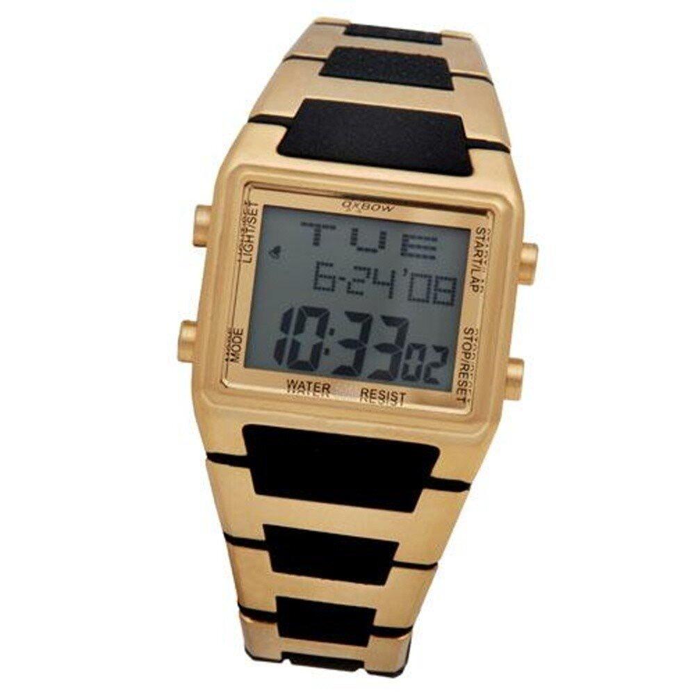 cd39e1076 Pánské zlaté digitální retro hodinky Oxbow   Slevomat.cz