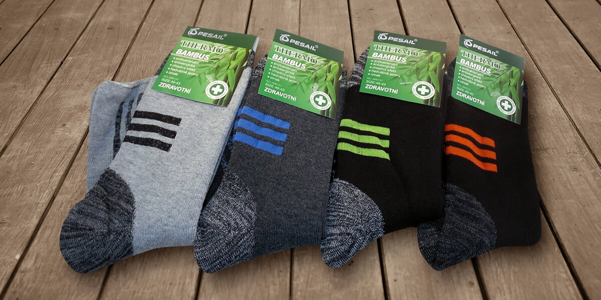 32f5e469e6f 4 páry pánských bambusových termo ponožek