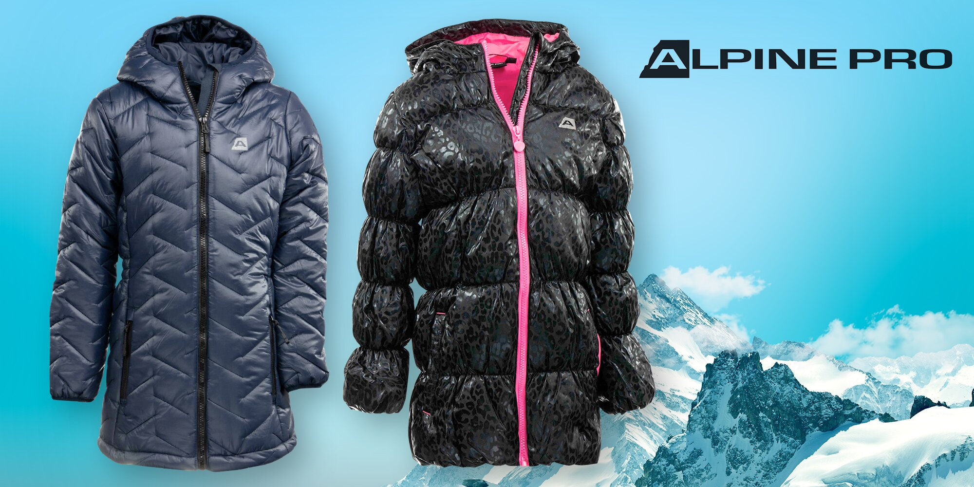 ececcf8319bf Dětské zateplené kabáty Alpine Pro  2 barvy