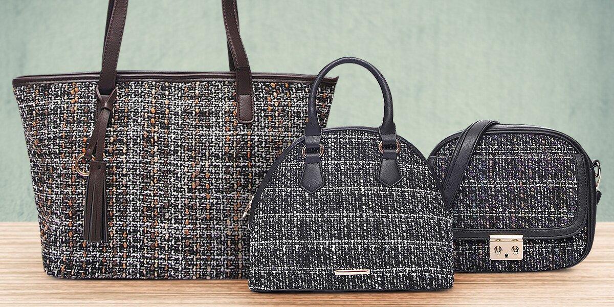 43f225b393 Elegantní dámské kabelky Tweed Bags