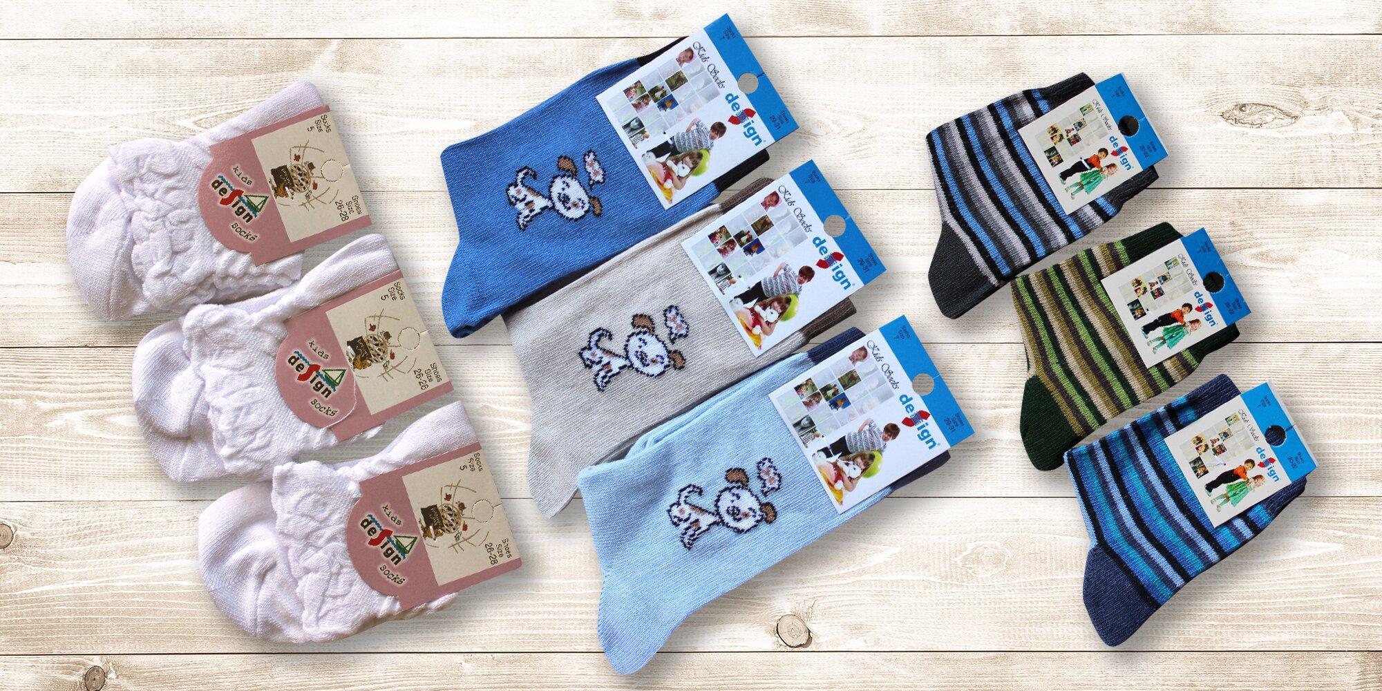 1786b333fe5 6 párů dětských ponožek s různými motivy