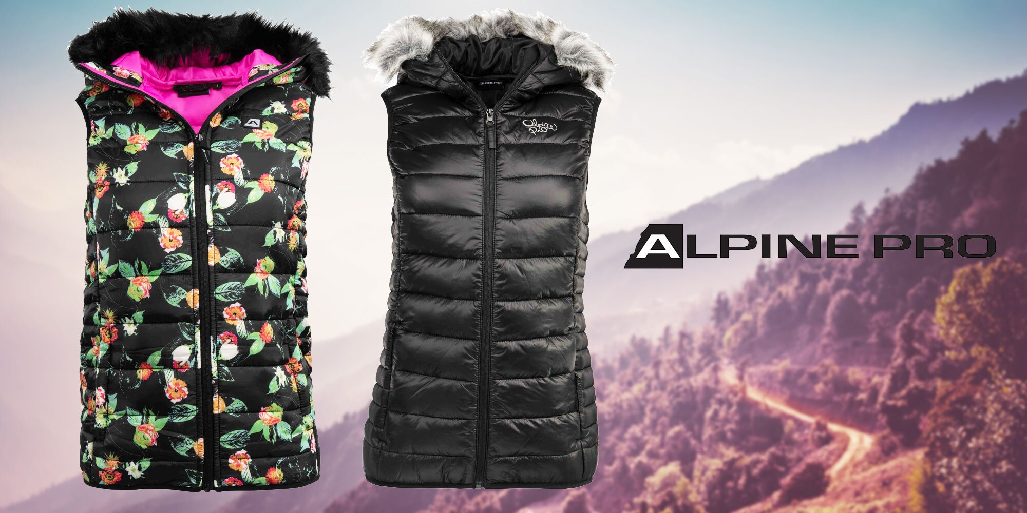 1ffd122e055c Dámské zimní vesty Alpine Pro