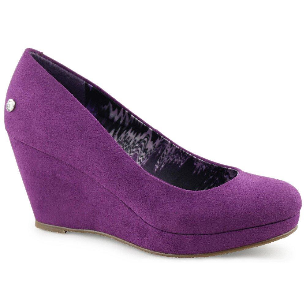 0c97f512a8 Dámské purpurově fialové lodičky na klínku Blink