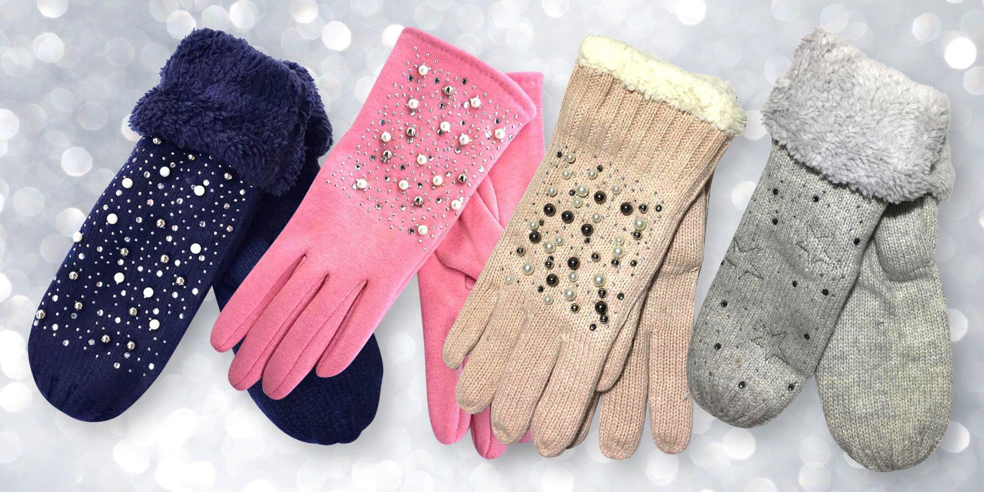 80543e70b7a Elegantní zdobené dámské rukavice