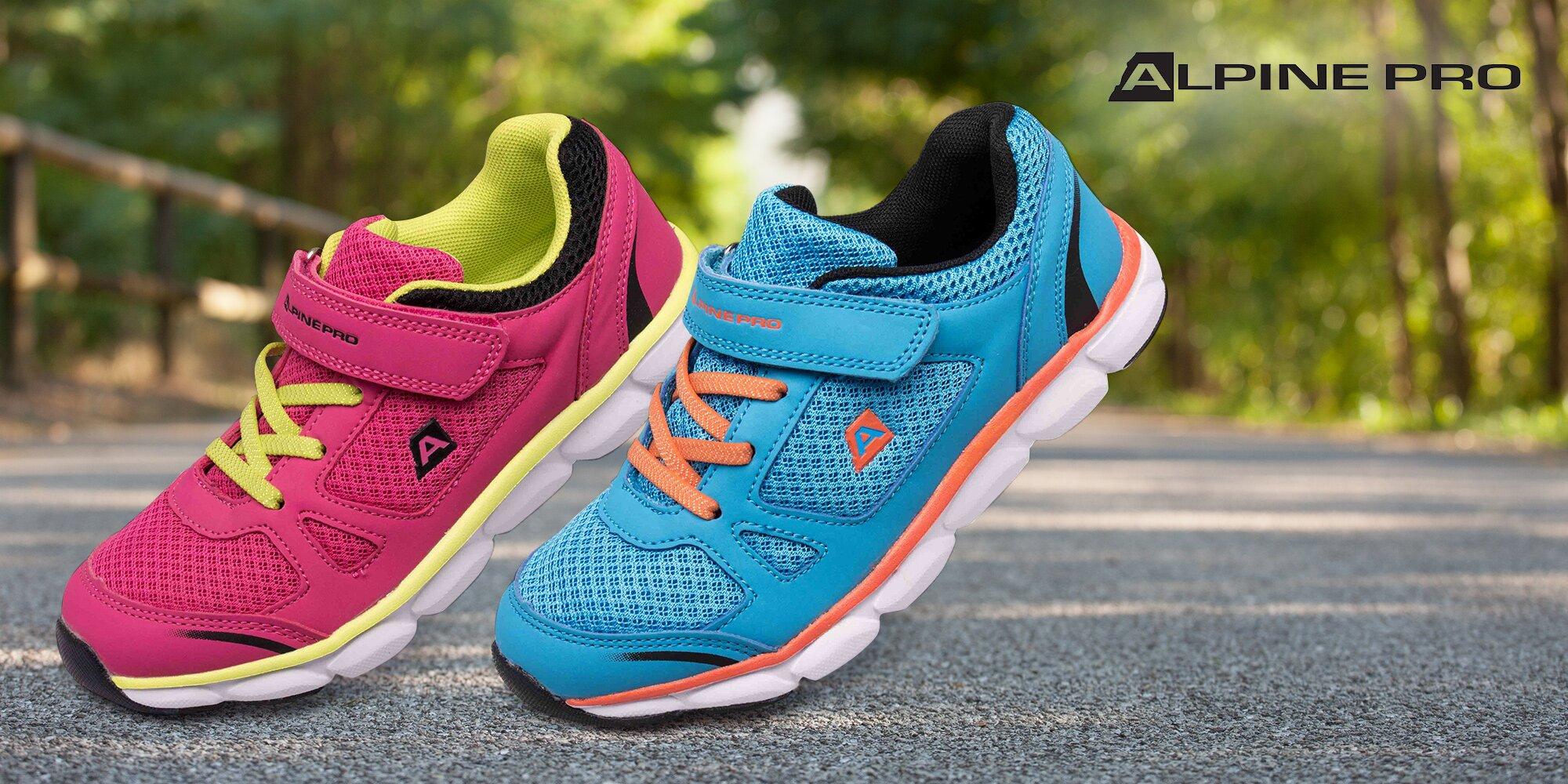 6ef64332205 Dětská odlehčená obuv Alpine Pro  růžová a modrá