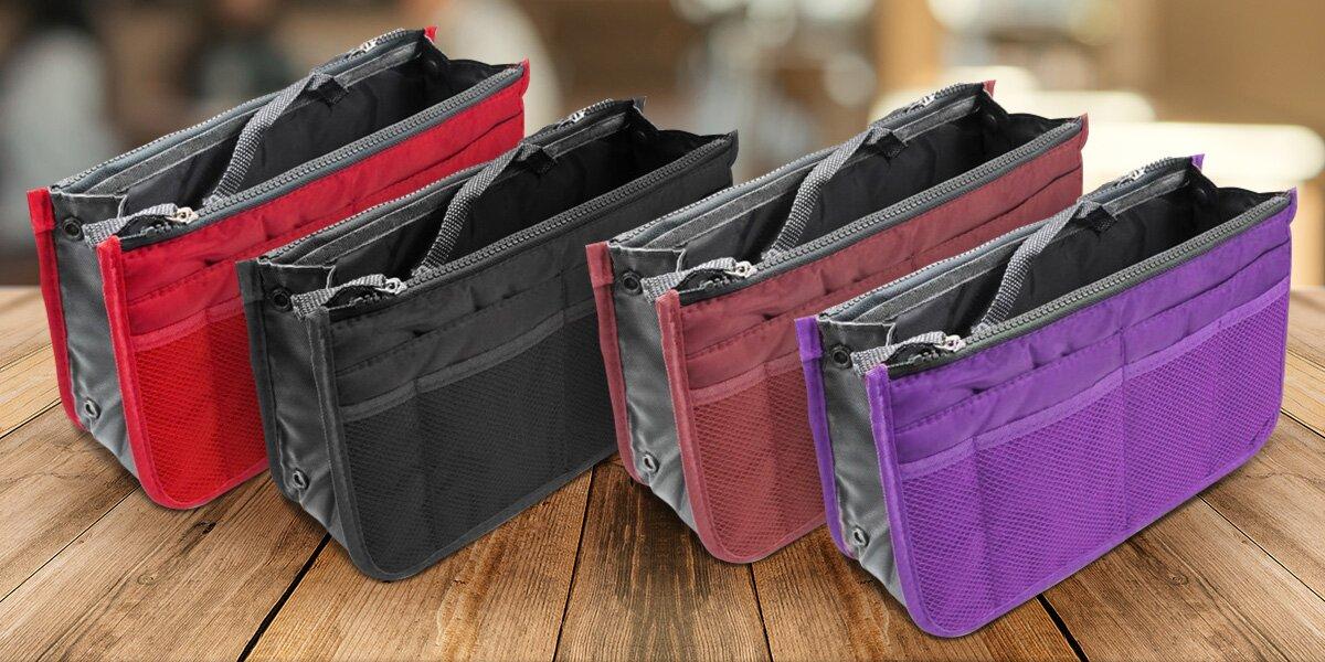 Praktické organizéry do kabelky v mnoha barvách  a2b8fe0d884