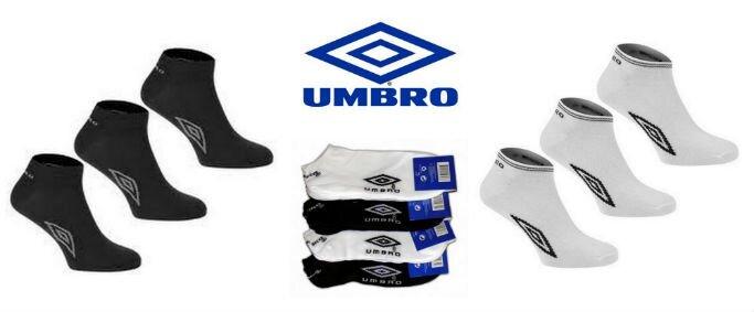 80a9a3347de 79 Kč za TŘI páry značkových kotníkových ponožek Umbro.