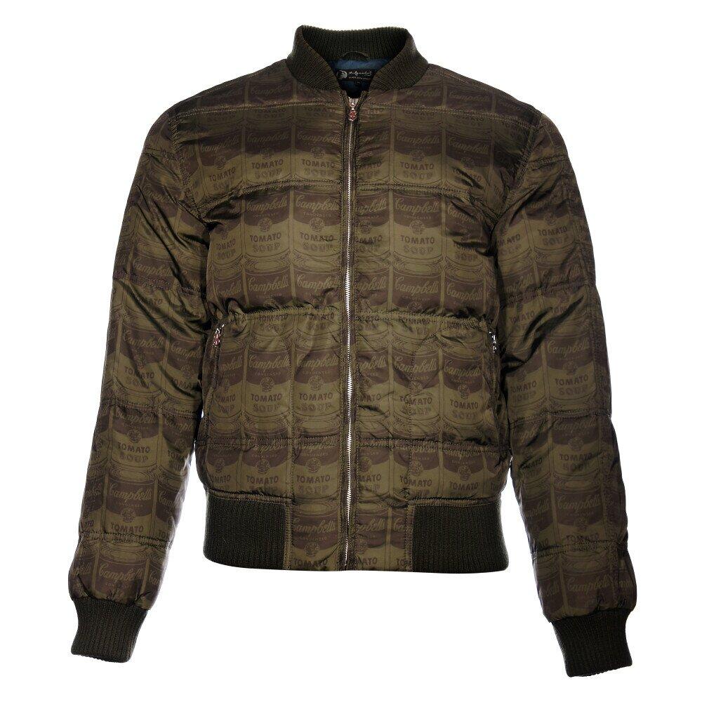 783da9ab4d5 Pánská tmavě zelená péřová bunda Pepe Jeans s potiskem