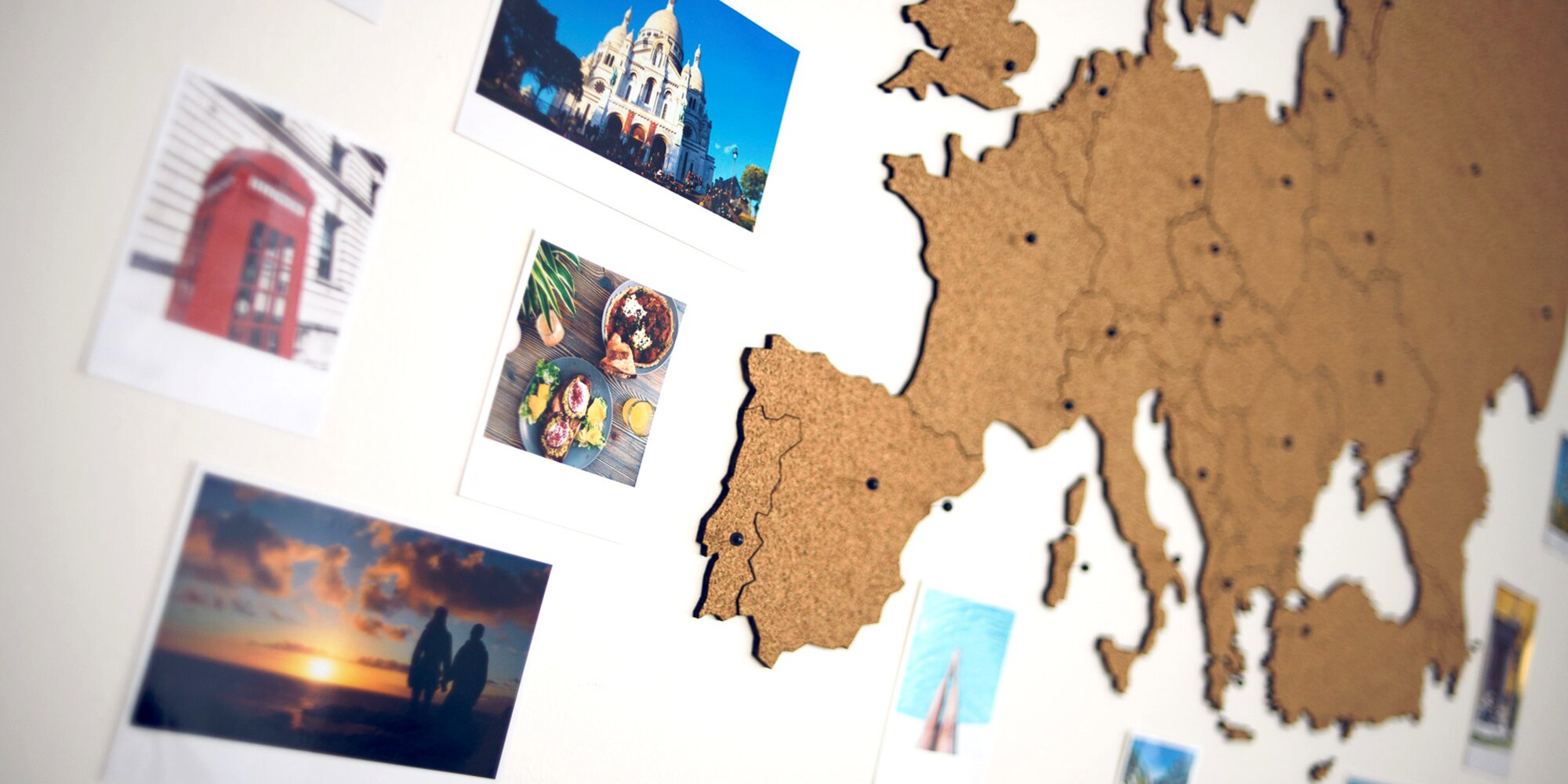 Samolepici Korkove Mapy Na Zed Cesko I Evropa Slevomat Cz