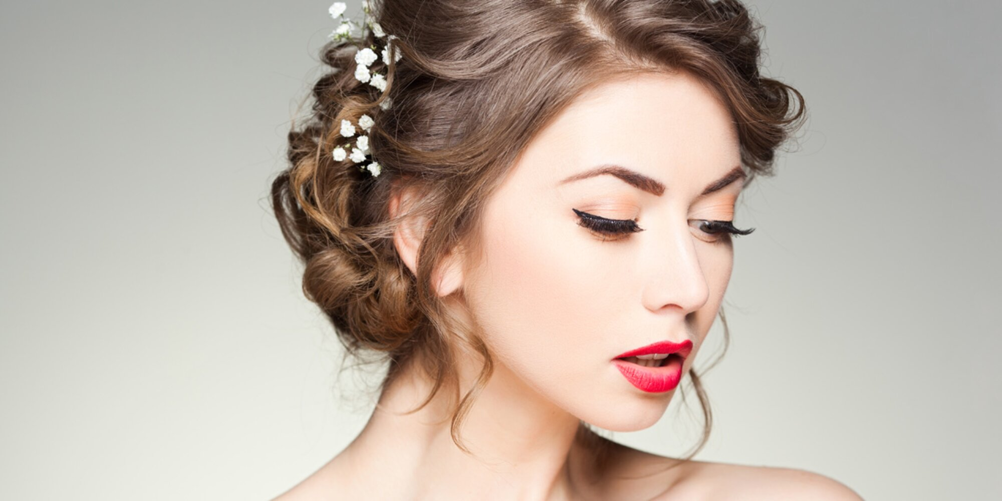 Прическа макияж на фото