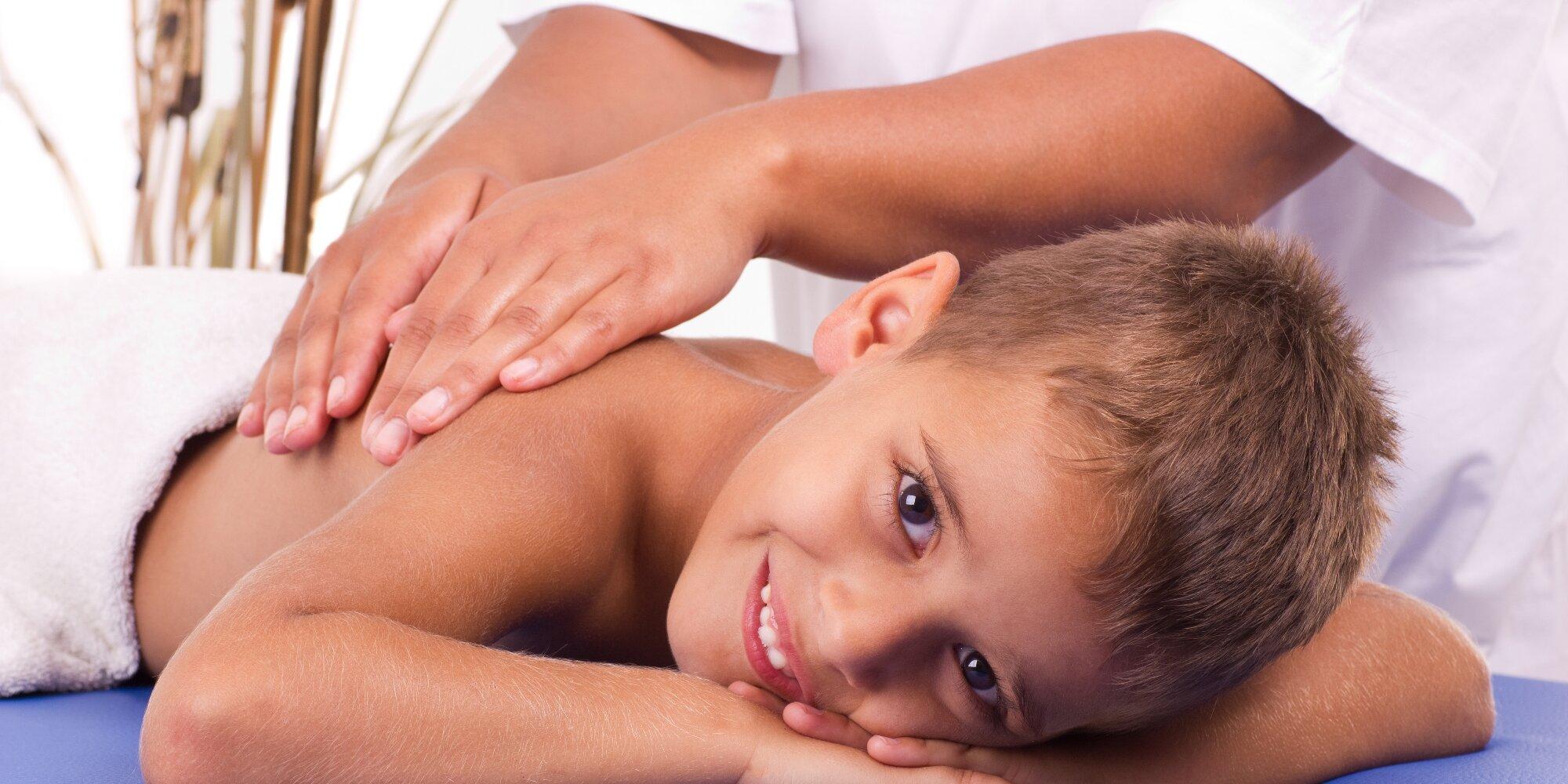 Фото как делать массаж подростку