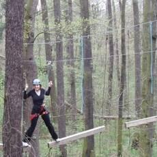 Lesní lanové centrum Komořany