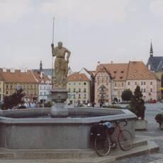 Cheb – náměstí Krále Jiřího z Poděbrad