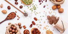 Oříšky, sušené ovoce, semínka