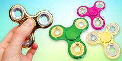Fidget spinner v šesti barvách s leskem chromu