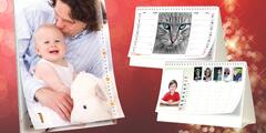 Stolní nebo nástěnné kalendáře z vlastních fotek