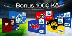 Platební karta pro sportovní fandy a bonus 1000 Kč