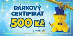 Dárkový poukaz do Sparkys v hodnotě 500 Kč