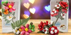 Valentýnský dárek: květina a bonboniéra v jednom