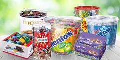 Obří boxy cukrovinek: Mentos, Chupa Chups i Milka