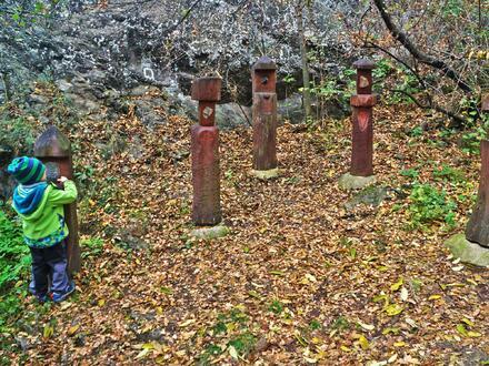 Naučnou stezku vám zpestří dřevěné sochy. Doporučuji všechny pořádně prozkoumat, tu a tam můžete narazit na něco ukrytého.