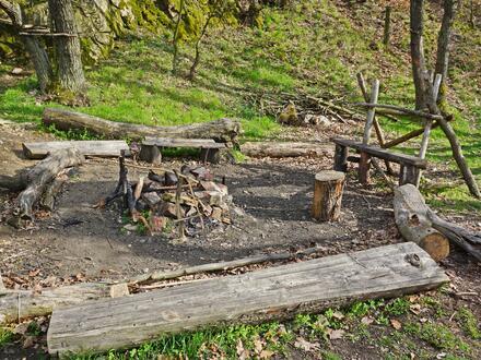 Pod zbytky hradu Templštýn je ohniště, takže pokud rádi opékáte buřtíky, nezapomeňte si je přibalit do batůžku.