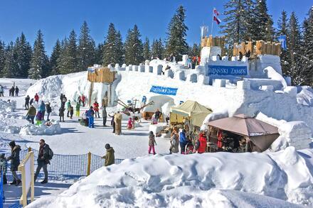 A také sněžný hrad. Foto: Honza Jochec